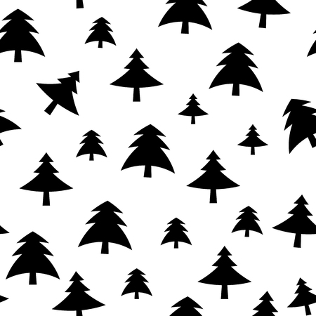 christmas tree illustration: Christmas Tree Pattern Background Vector Illustration EPS10 Illustration