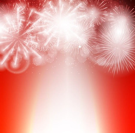 party background: Vector Illustration of Fireworks, Salute on a Dark Background EPS10 Illustration