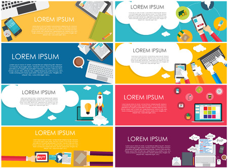 concept background: Modern Flat Design Banner for your Business Vector Illustration EPS10 Illustration