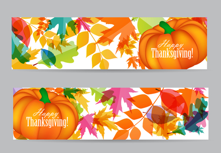 thanksgiving family: Happy Thanksgiving Day Background with Shiny Autumn Natural Leaves. Vector Illustration EPS10