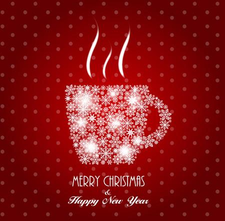 Kerstmis Coffee Cup achtergrond vector illustratie EPS10