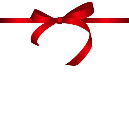 holiday background: Red Gift Ribbon. Vector illustration EPS10 Illustration