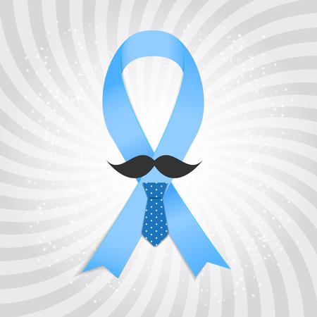 prostate: Prostate Ð¡ancer Awareness Blue Ribbon Vector Illustration EPS10