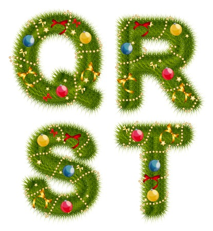 light abc: Abstract beauty Christmas and New Year Abc. Vector  Illustration EPS10