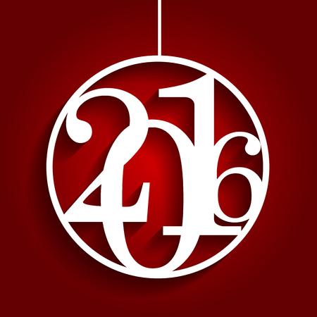 descriptive: Christmas 2016 Alphabet Number Vector Illustration EPS10 Illustration
