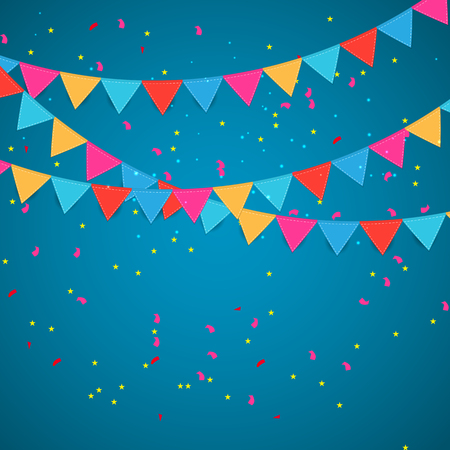 text space: Holiday Party Flag Background Illustration