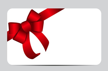 Red Gift Ribbon. Vector illustration EPS10  イラスト・ベクター素材