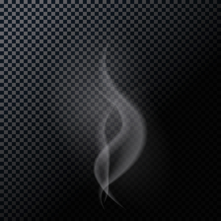 naturalistic: Naturalistic Smoke Isolated on Dark Background.  Illustration