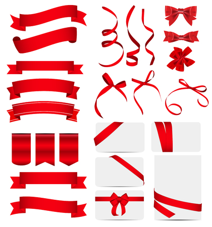 Red Ribbon and Bow Set.