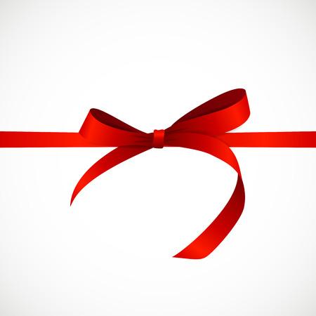 Gift Card con il nastro rosso e fiocco. Archivio Fotografico - 49074530