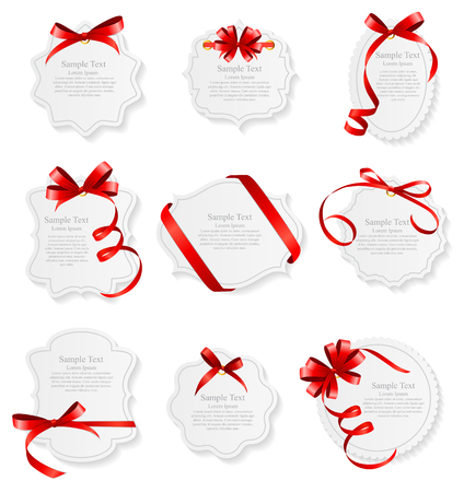 Card with Red Ribbon and Bow Set.
