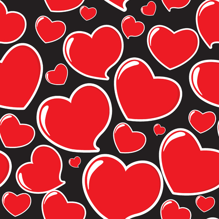 heart seamless pattern: Red Heart Seamless Pattern Illustration