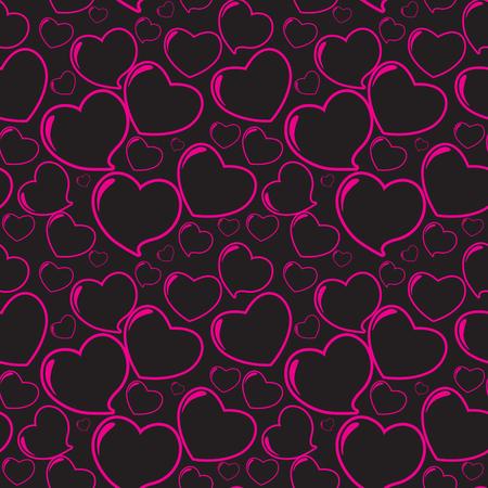 heart seamless pattern: Pink Heart Seamless Pattern Illustration