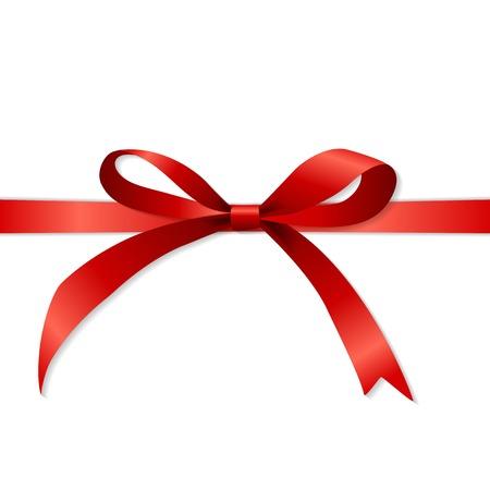 Gift Card Set con il nastro rosso e fiocco. Vector illustration EPS10