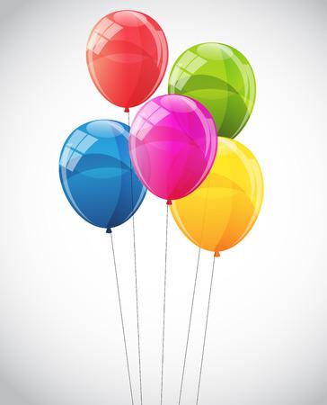 Couleur Glossy Ballons fond vecteur Illustration EPS10