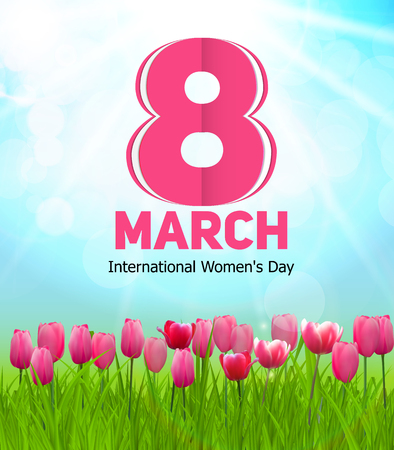 women's issues: Womens Day Greeting Card 8 March Vector Illustration EPS10