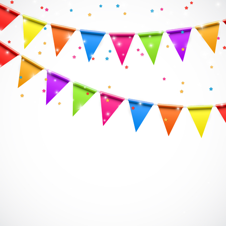 flags vector: Party Background with Flags Vector Illustration. EPS10