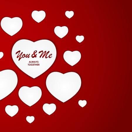 st  valentine's: St Valentines  Day Greeting Card Vector Illustration EPS10 Illustration