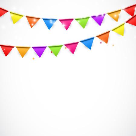 フラグのベクトル図とパーティーの背景。EPS10  イラスト・ベクター素材