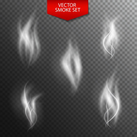 naturalistic: Naturalistic Smoke on Dark Transparent Background. Vector Illustration. EPS10