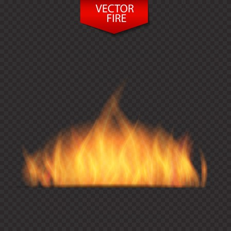 naturalistic: Naturalistic Fire on Dark  Background. Vector Illustration. EPS10 Illustration