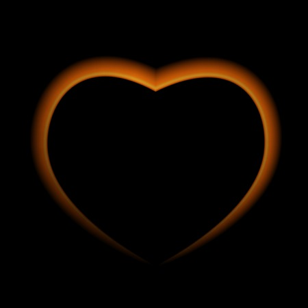 naturalistic: Naturalistic Fire Heart on Dark  Background. Vector Illustration. EPS10 Illustration