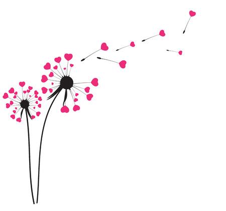 Abstract Dandelion achtergrond vector illustratie EPS10