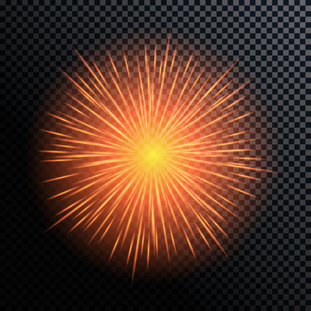 fourth birthday: Vector Illustration of Fireworks, Salute on a Transparent Background EPS10