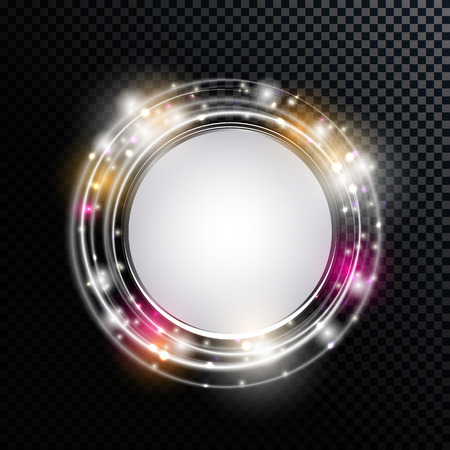 Abstract Golden Shiny Frame on a Transparent Background Vector Illustration