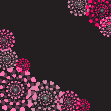 heart abstract: Abstract Heart Flower Background Vector Illustration EPS10