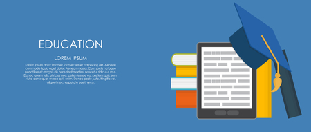 e reader: Business Education Concept. Trends and Innovation in Education.