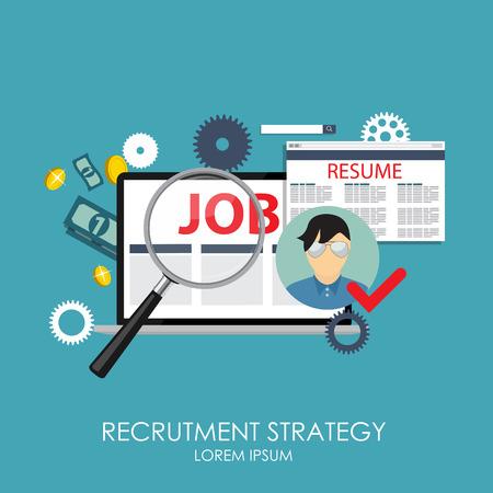 external: Recrutment Strategy Business Concept. External and International relations directors.