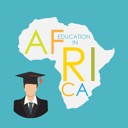children only: Business School Education in Africa Concept.