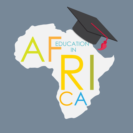 multi ethnic group: Business School Education in Africa Concept.