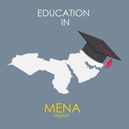 region: Business School Education in Mena Region Concept.