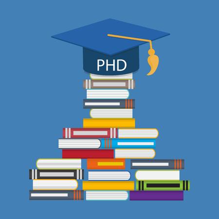 Harter und langer Weg zum Doktor der Philosophie Grad PHD.