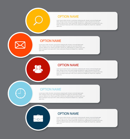 web template: Infographic Templates for Business Vector Illustration. EPS10
