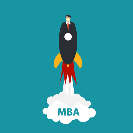 education concept: Business MBA Education Concept. Trends and innovation in education. Illustration Stock Photo