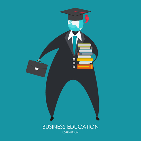 education concept: Business Education Concept. Trends and innovation in education. Illustration Stock Photo