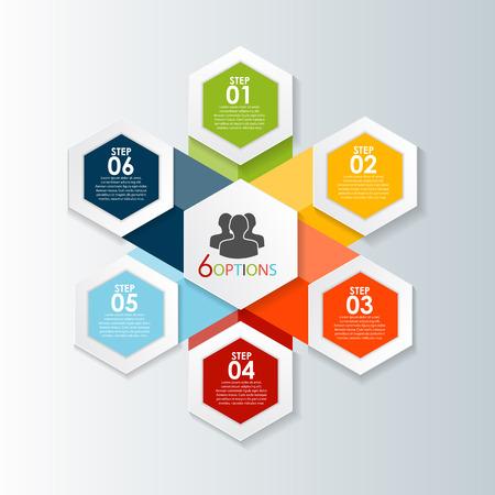 elements: Plantillas de Infografía de la ilustración de negocios del vector. EPS10 Vectores