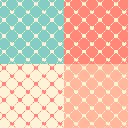 romantic: Romantic Seamless Pattern Background