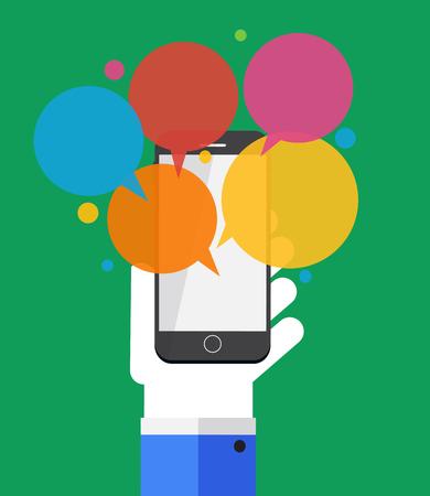 text messaging: Text Messaging Flat Concept