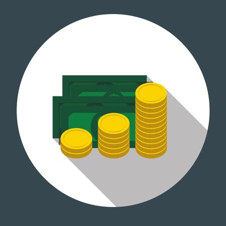 possession: Money Flat Design Concept Illustration