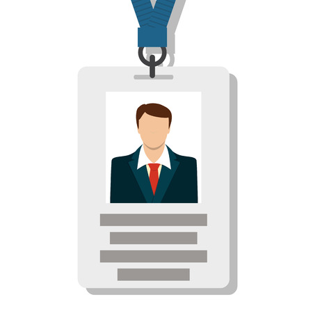 ski pass: Badge, Pass Card ID in Modern Flat Style Vector Illustration