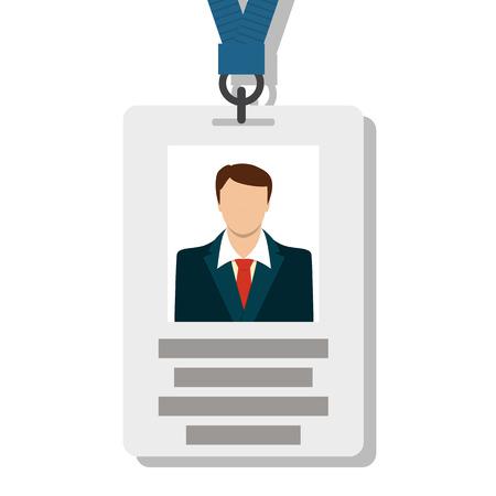 Tarjeta de identificación, tarjeta de identificación Pass en Ilustración del vector del estilo Modern Flat Ilustración de vector