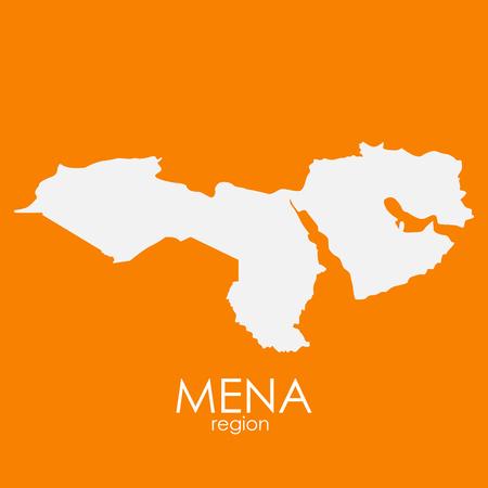 Mena Region Map Vector Illustration EPS10  イラスト・ベクター素材