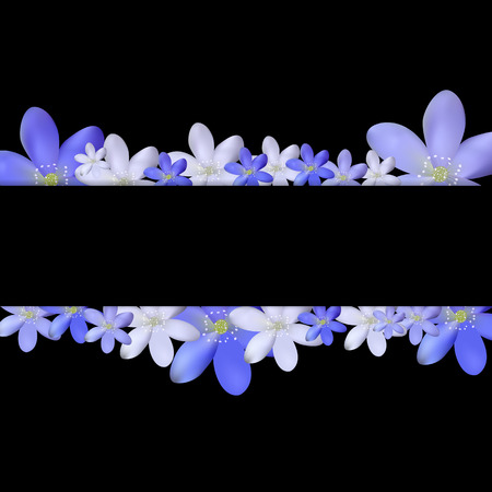 simple flower: Abstract Simple Flower Pattern Background EPS10