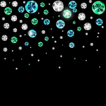 diamante negro: Lujo Negro Diamante ilustración vectorial