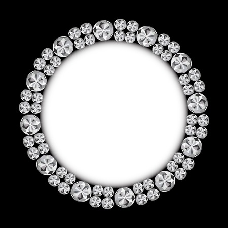 diamond background: Abstract Luxury Black Diamond Background Vector Illustration Illustration