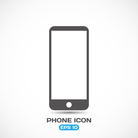 touchpad: Flat Style Modern Phone Icon Vector Illustration